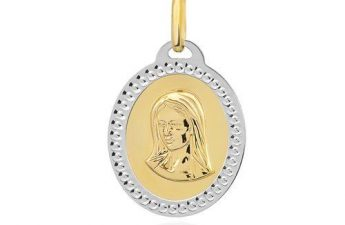 złoty medalik - pomysł na prezent na komunię dla dziewczynki